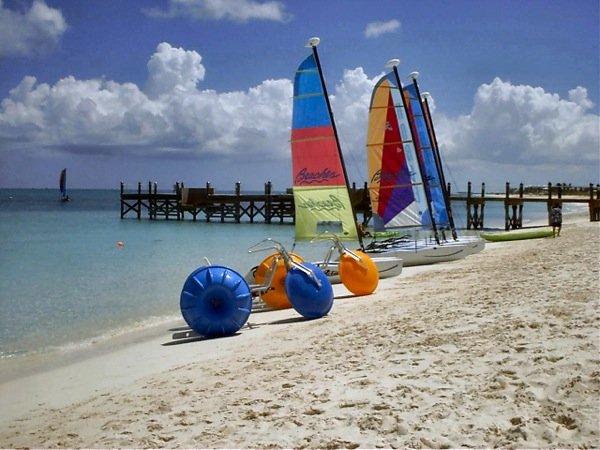 Aqua-Cycle™ Water Trikes at a Beaches Resort.