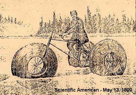 Scientific American line art of a water tricycle dated May 13, 1899