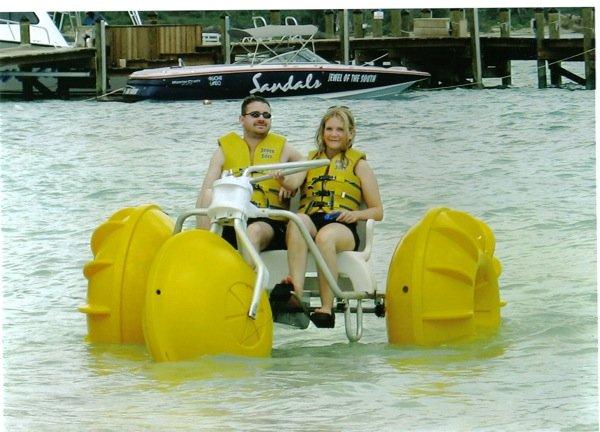 Aqua-Cycle™ Water Trike used at a Sandals Beach Resort