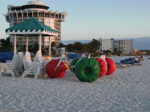 Aqua-Cycle™ Water Trike used at a beach resort
