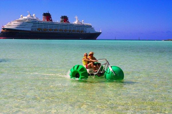 Aqua-Cycle™ Water Trike used at an all inclusive resort beach rental equipment