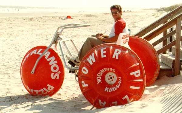 Aqua-Cycle™ Water Trike beach rental business in Hawaii in the 80's