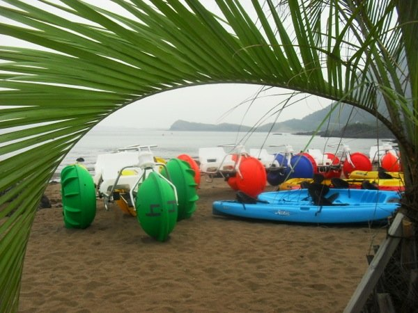 Aqua-Cycle™ Water Trikes at a water recreational equipment rental business