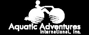 Aquatic Adventures International Inc. white logo
