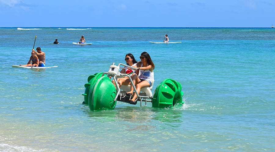 Beach Rental Business using Aqua-Cycle water trikes