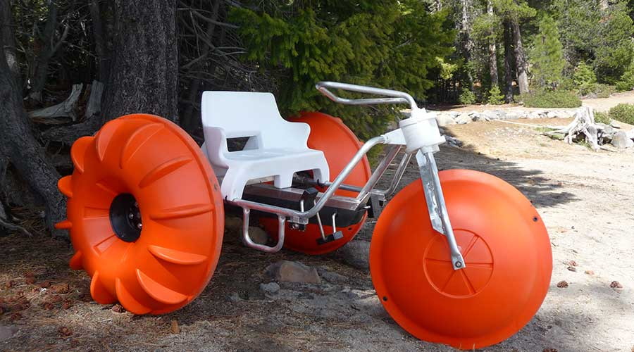 An Aqua-Cycle water trike ready to use at a HOA or POA housing complex.