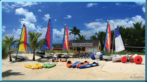 Aqua-Cycle™ Water Trikes at a water recreational equipment rental business at a marina, Islander Watersports