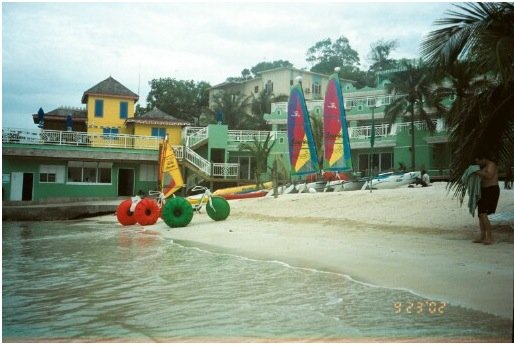 Aqua-Cycle™ Water Trikes at a water recreational equipment rental business in Ochos Rios Jamaica