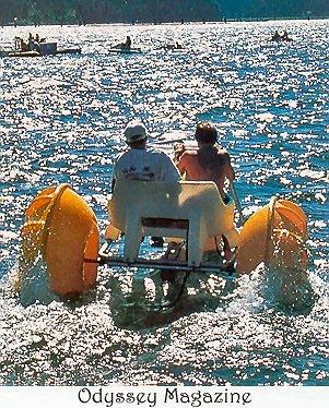 Odyssey Magazine with Aqua-Cycle Water Trike
