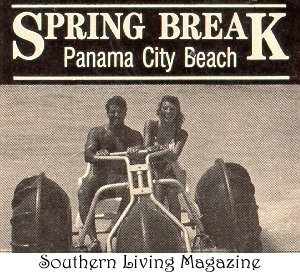 An early Aqua-Cycle™ Water Trike in Southern Living Magazine promoting Panama City Beach.